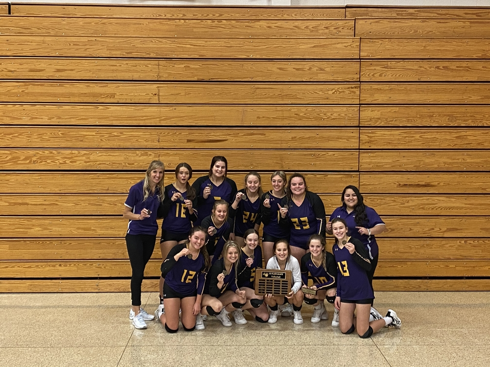 Volleyball Captures League Tourney Title