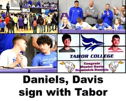 Daniels, Davis Sign with Tabor