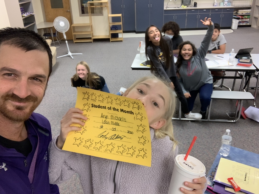 5/6 student of the month... with the photobomb from her classmates