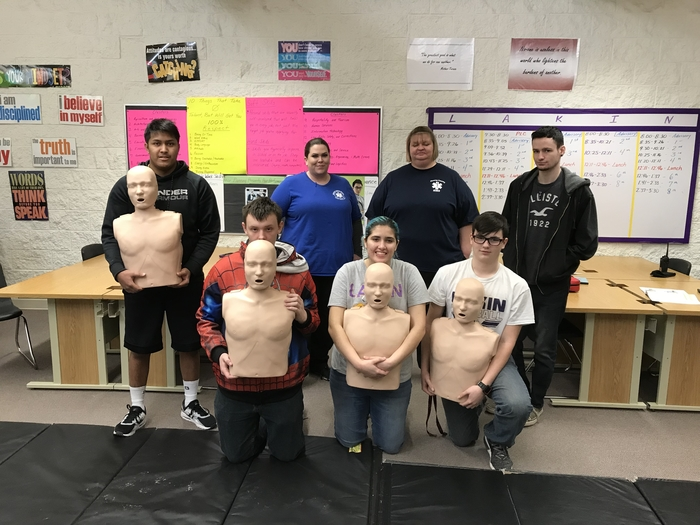 Career Class learned CPR today.