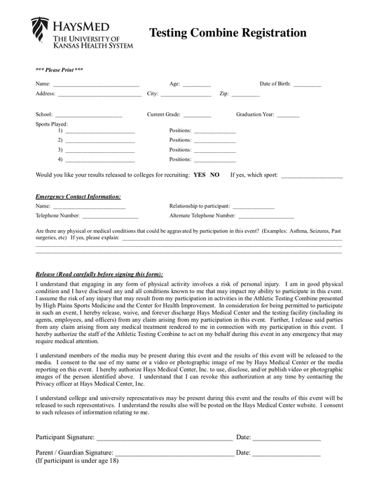 Athlete Profile sheet: Athlete Fills this out