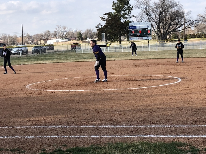 Makennah with the pitch.